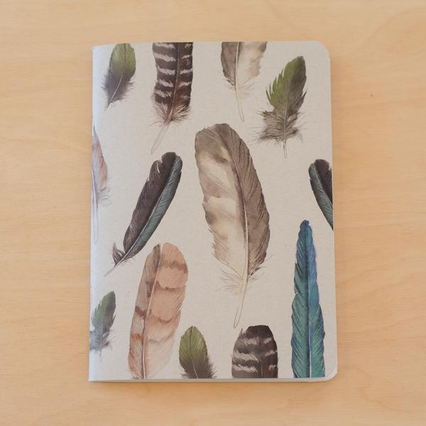 Painted Feathers Notebook | Tumbleweed Tees