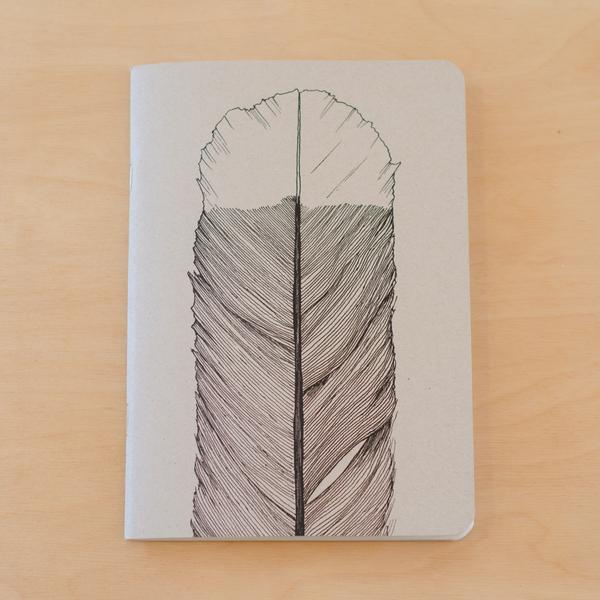 Huia Feather Notebook | Tumbleweed Tees