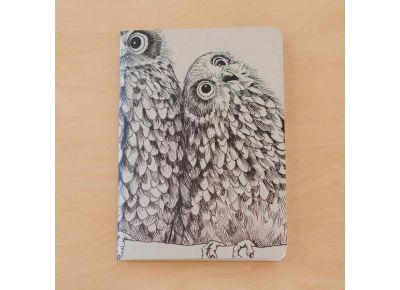 Morepork/Ruru Painted Notebook | Tumbleweed Tees