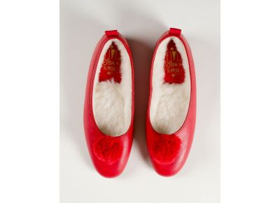 Red Leather Pompom