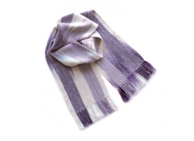 Lavender + Mauve Watercolour Scarf in Alpaca